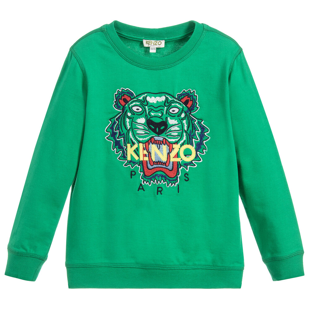 d607b97c4 Kenzo Kids - Green Tiger Sweatshirt | Childrensalon