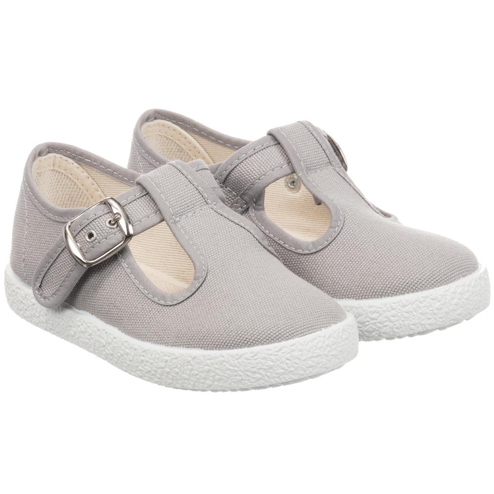 KIKU - Grey Canvas Shoes | Childrensalon