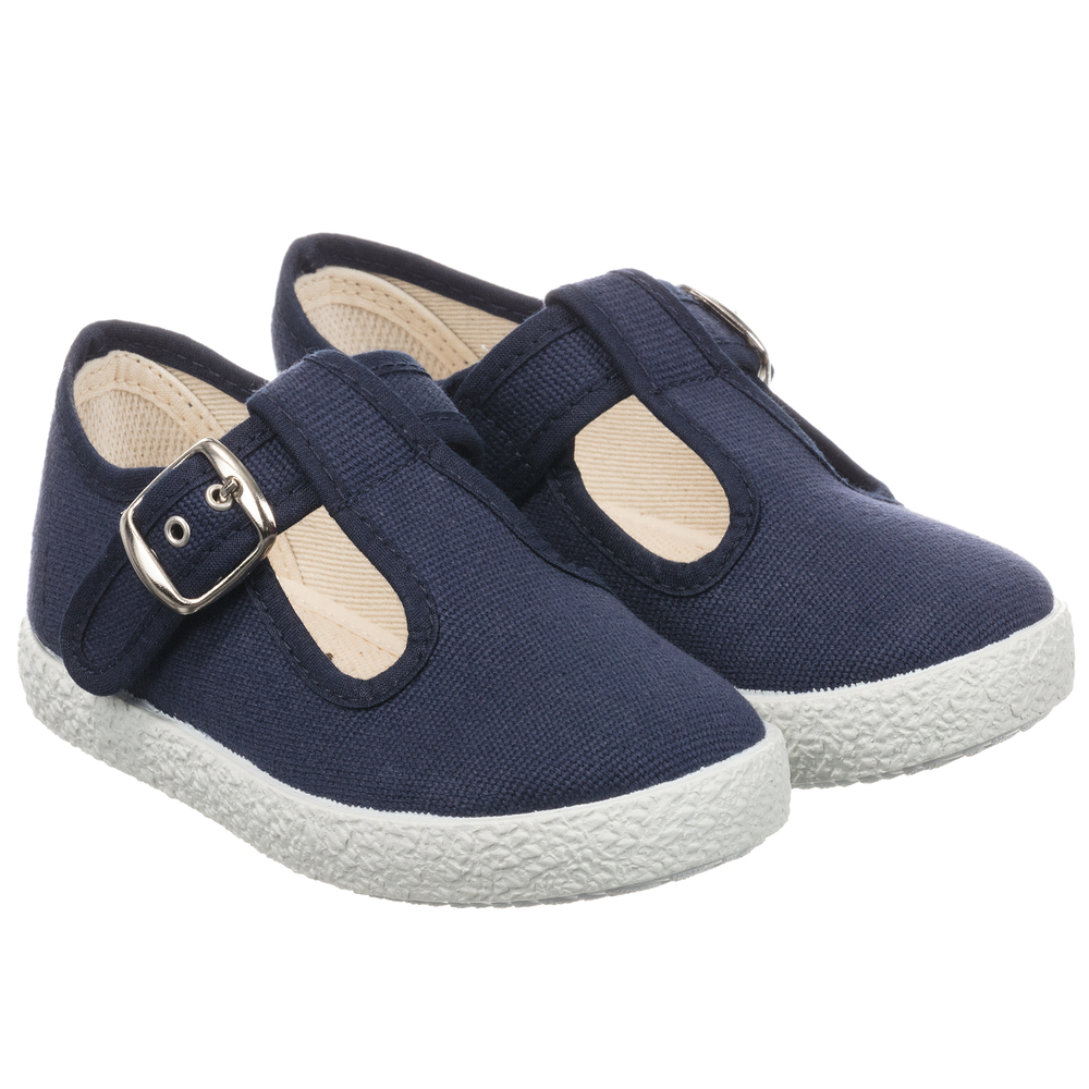 KIKU - Navy Blue Canvas Shoes