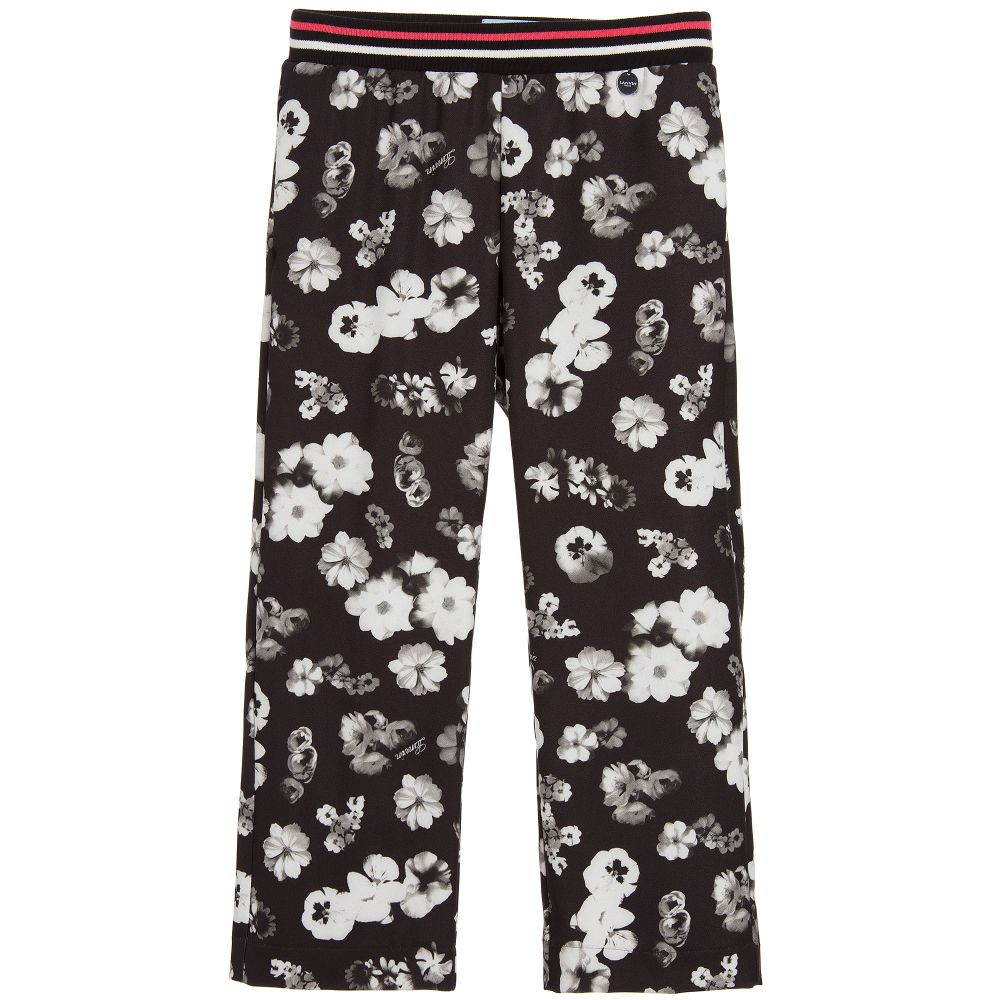 Lanvin - Girls Black Floral Trousers  | Childrensalon