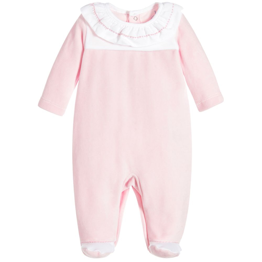 Laranjinha - Baby Girls Babygrow with Feet | Childrensalon