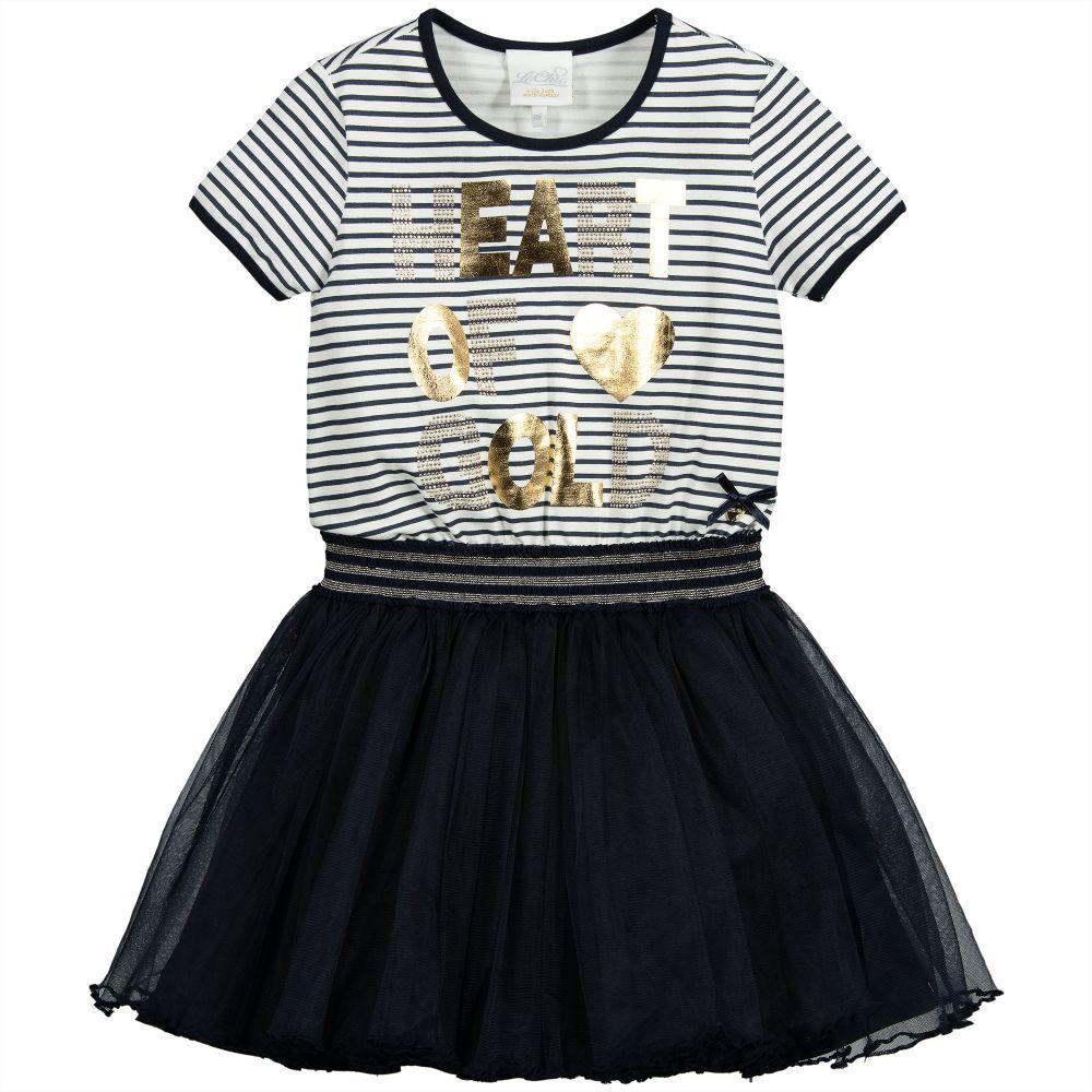 200ab13537c7 Le Chic - Blue Cotton & Tulle Tutu Dress | Childrensalon