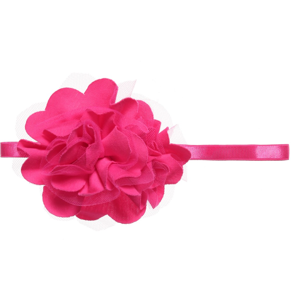 Lemon Loves Layette - Baby Girls Bright Pink 'Rose' Headband | Childrensalon