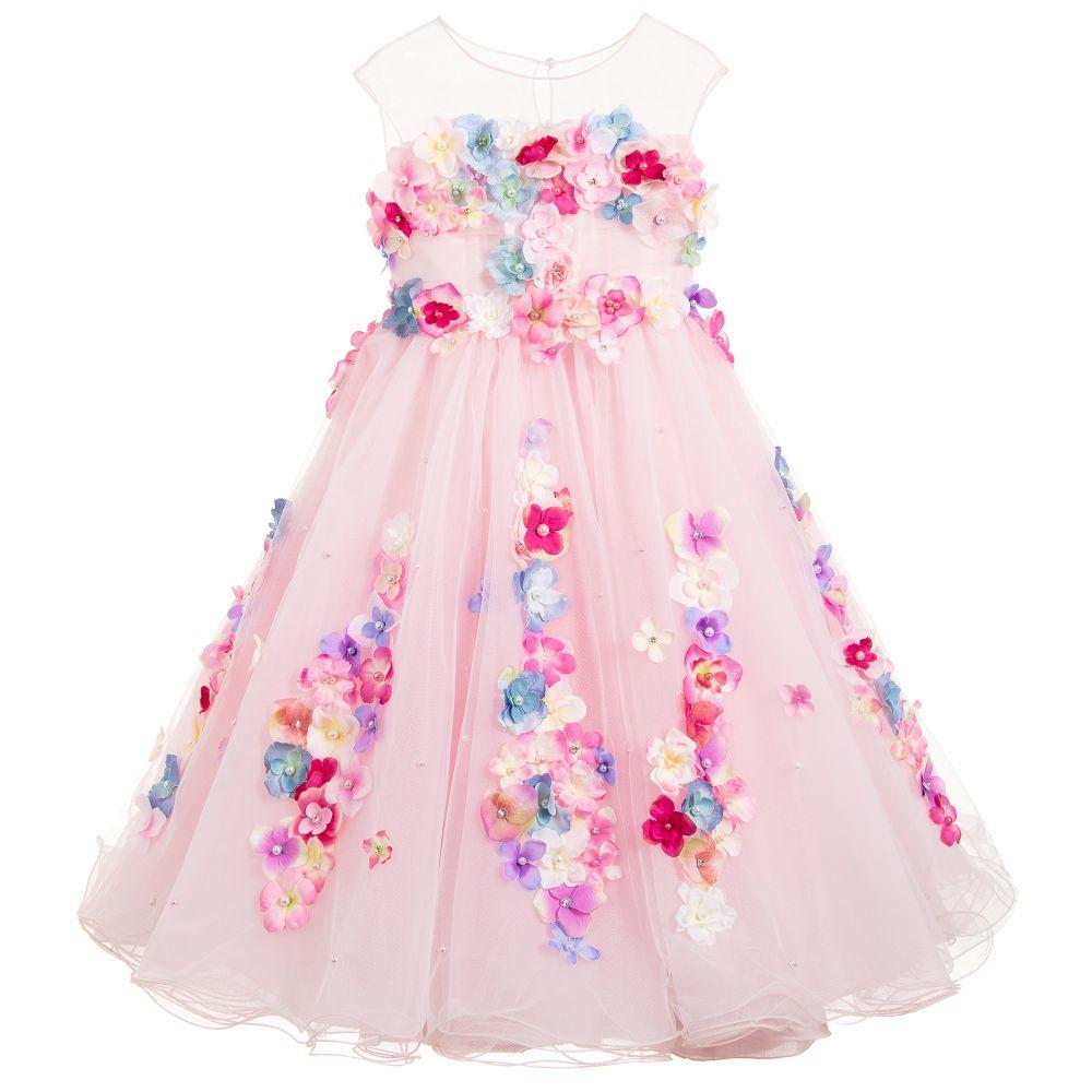 507eedbd6b Lesy - Girls Luxury Pink Tulle Dress