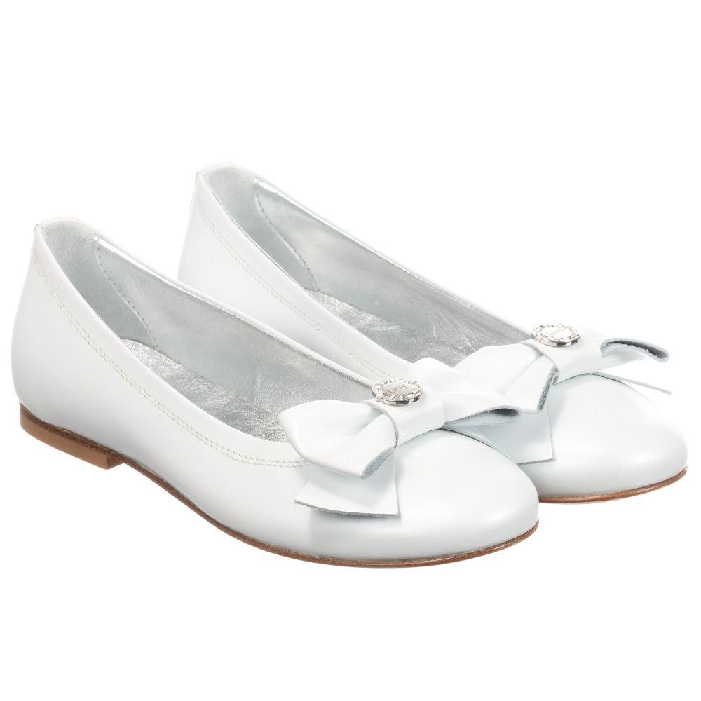 Lesy - Girls White Leather Shoes
