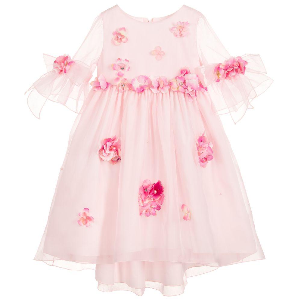 3b6547035 Lesy - Luxury Pink Silk Organza Dress