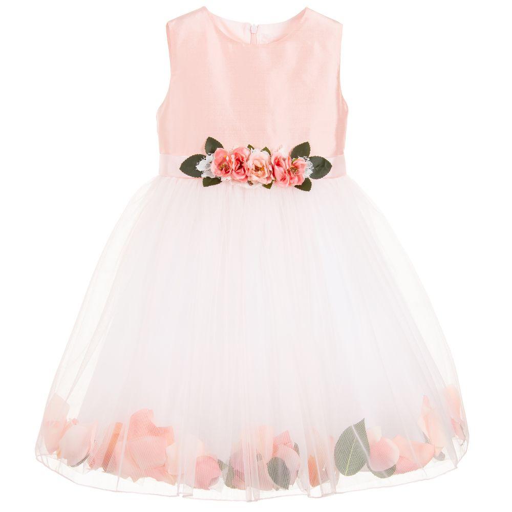 5ba310208 Lesy - Luxury Pink Silk Petal Dress