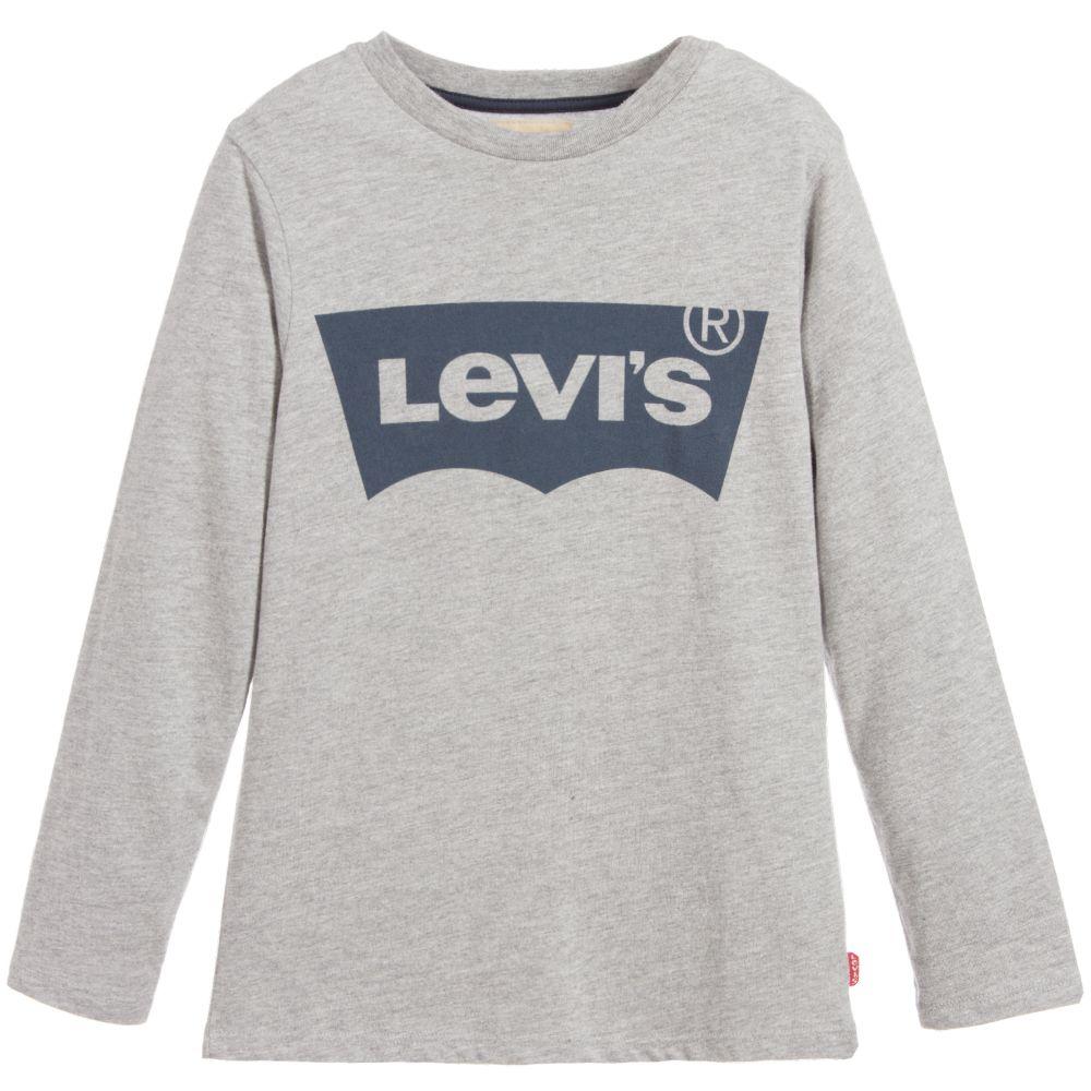 Boys Grey Logo Top