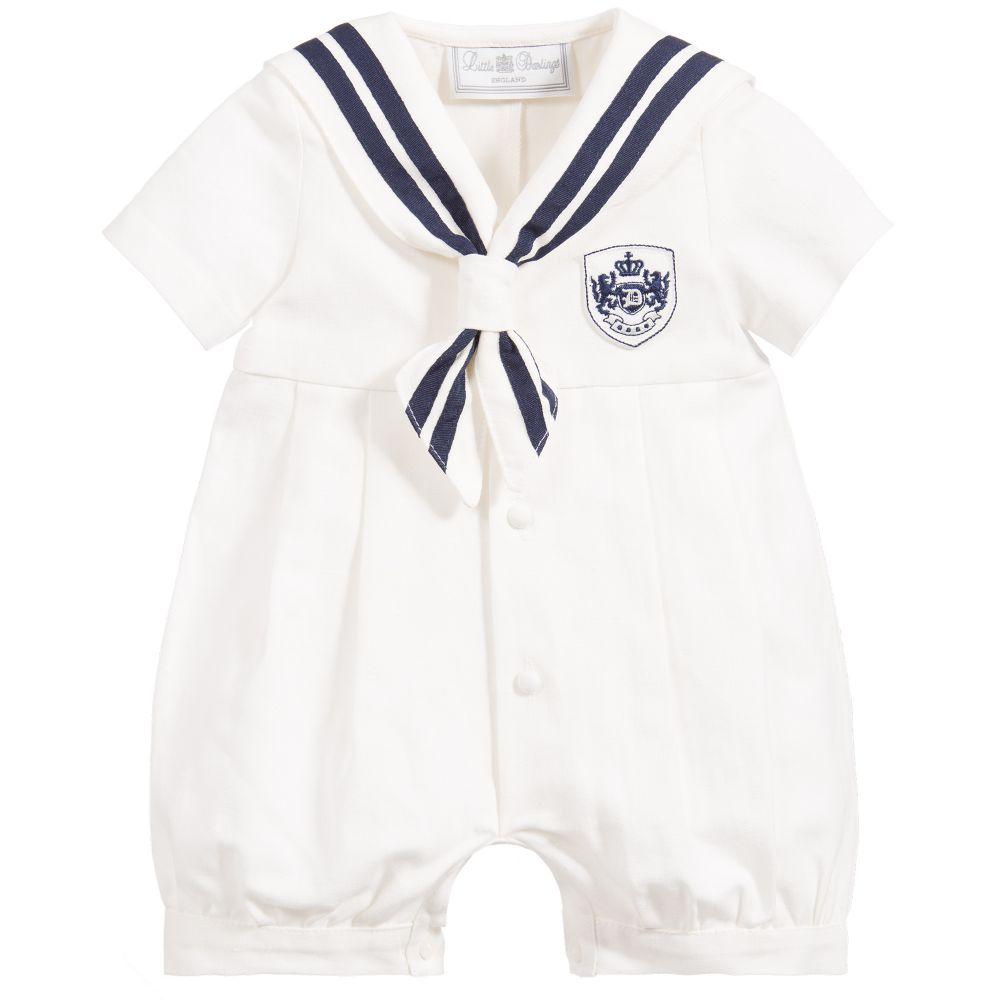 Little Darlings - Baby Sailor Cotton Shortie | Childrensalon