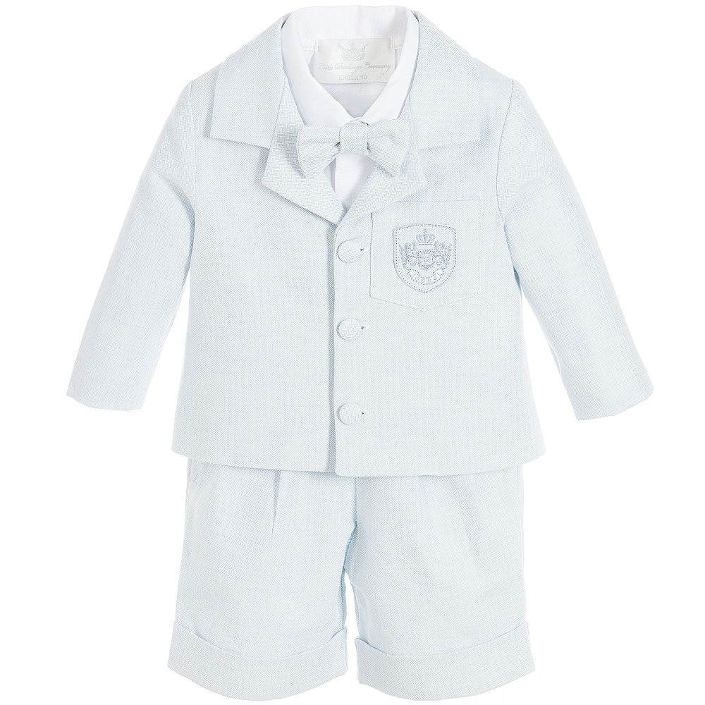 Little Darlings - Boys Blue 4 Piece Shorts Suit | Childrensalon