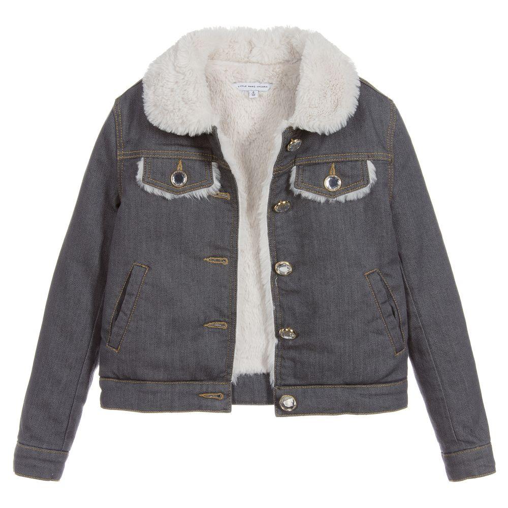 Little Marc Jacobs - Girls Grey Denim Jacket