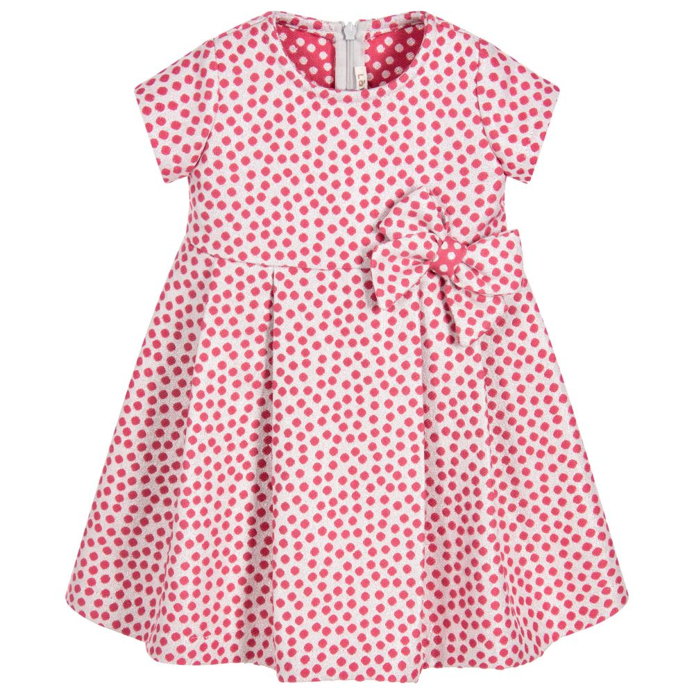 Loredana - Girls Pink & Silver Dress | Childrensalon