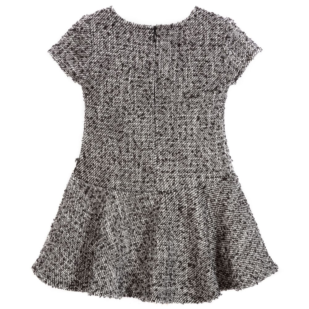 d210d2ad57df Mayoral - Black & White Tweed Dress | Childrensalon