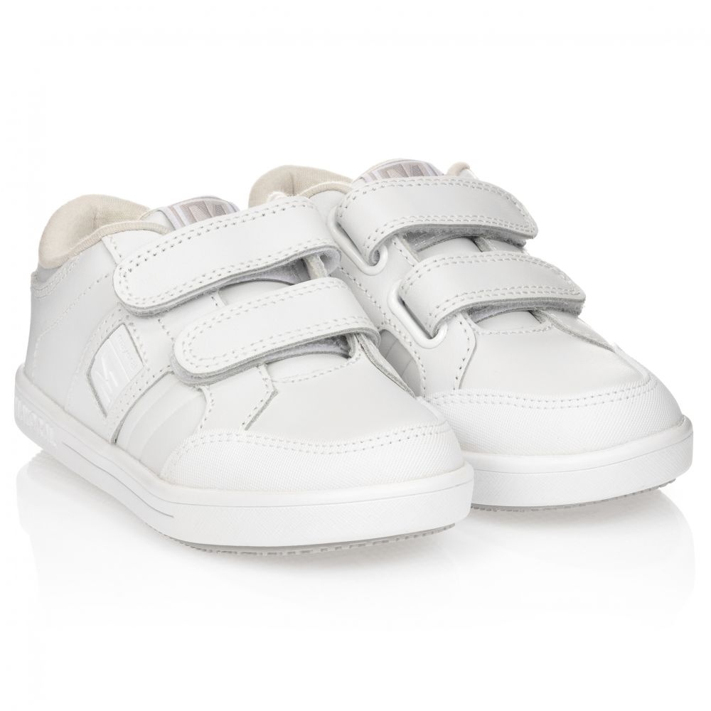 Mayoral - Boys White Leather Trainers