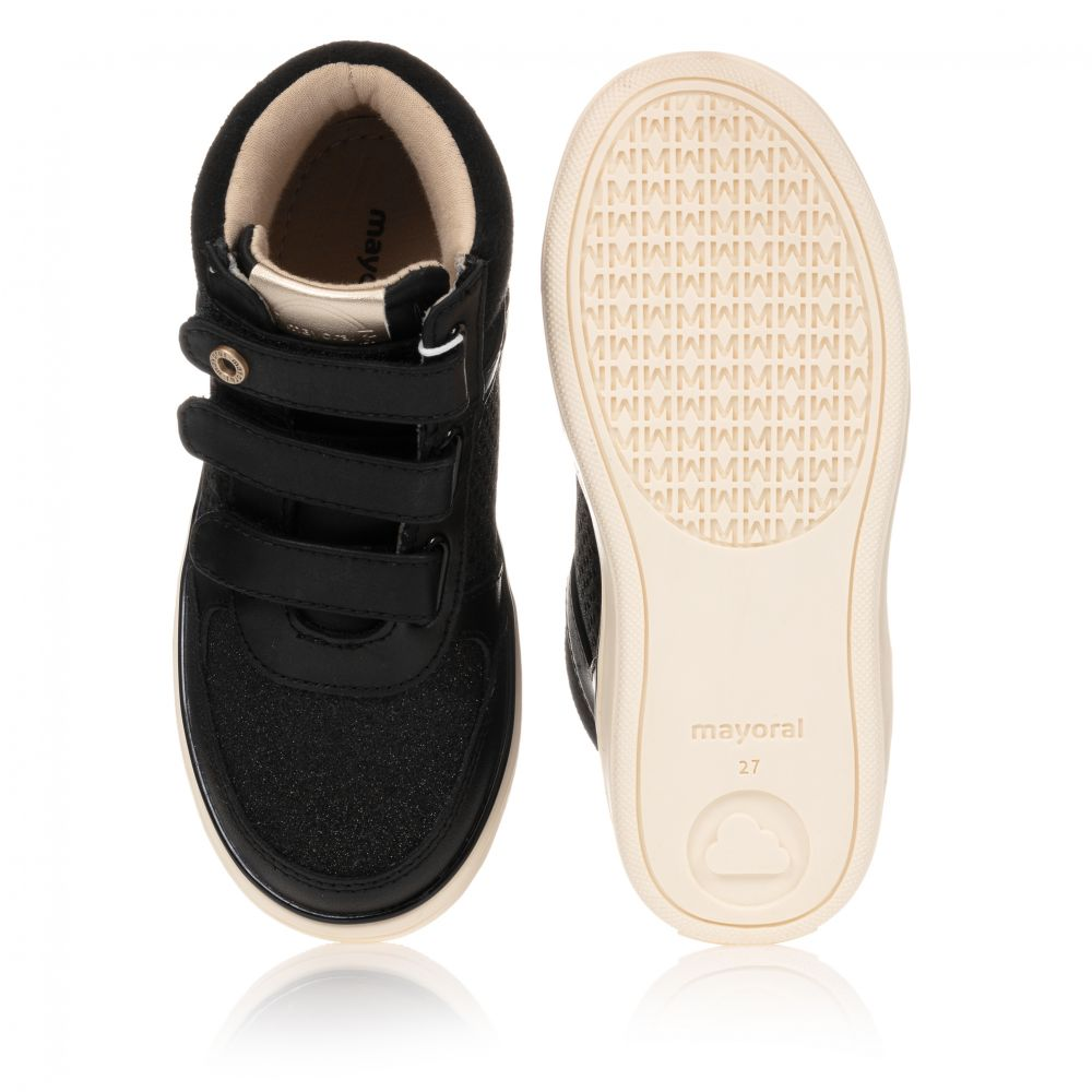 Mayoral - Girls Black High-Top Trainers