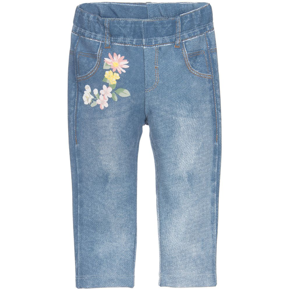 Mayoral - Girls Denim Print Leggings | Childrensalon