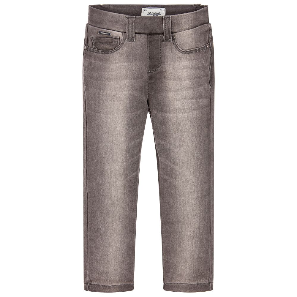 Mayoral - Girls Grey Skinny Fit Jeggings | Childrensalon