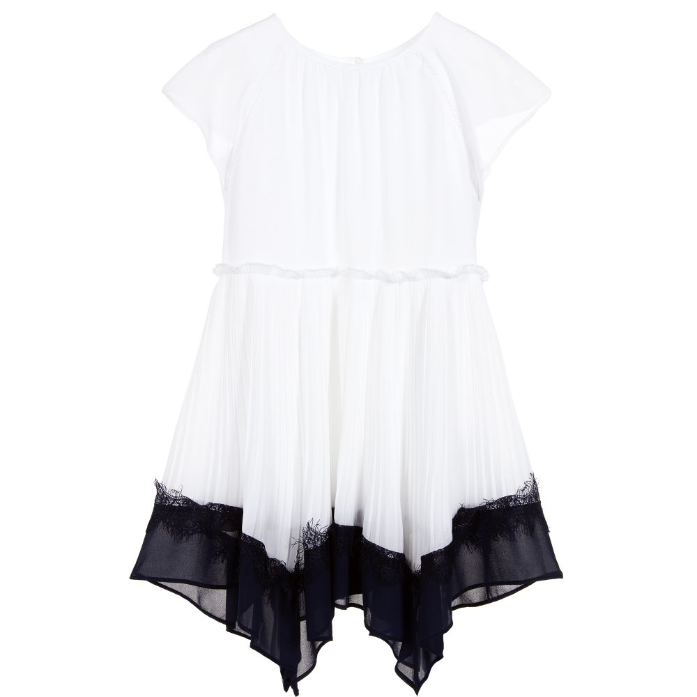 59f27907288d Mayoral - Girls Ivory Pleated Dress