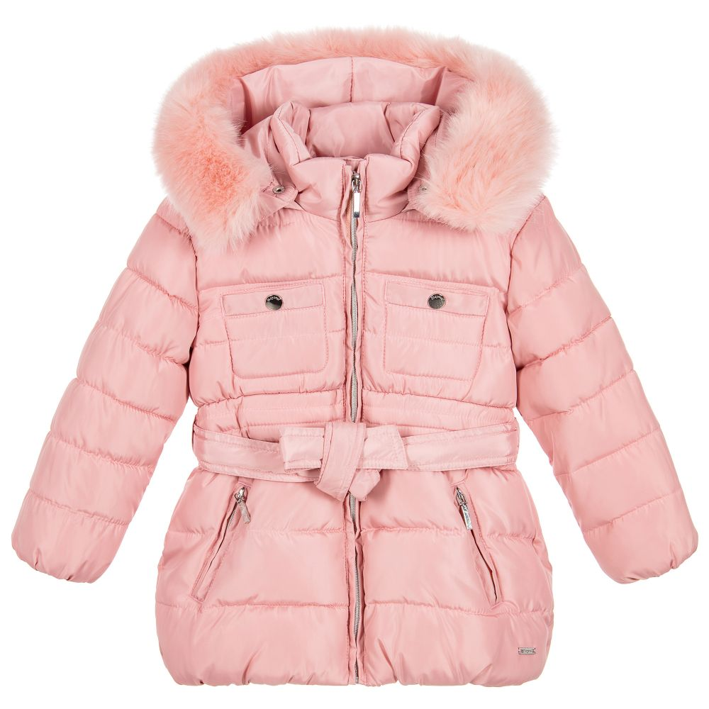 Mayoral - Girls Pink Padded Coat | Childrensalon
