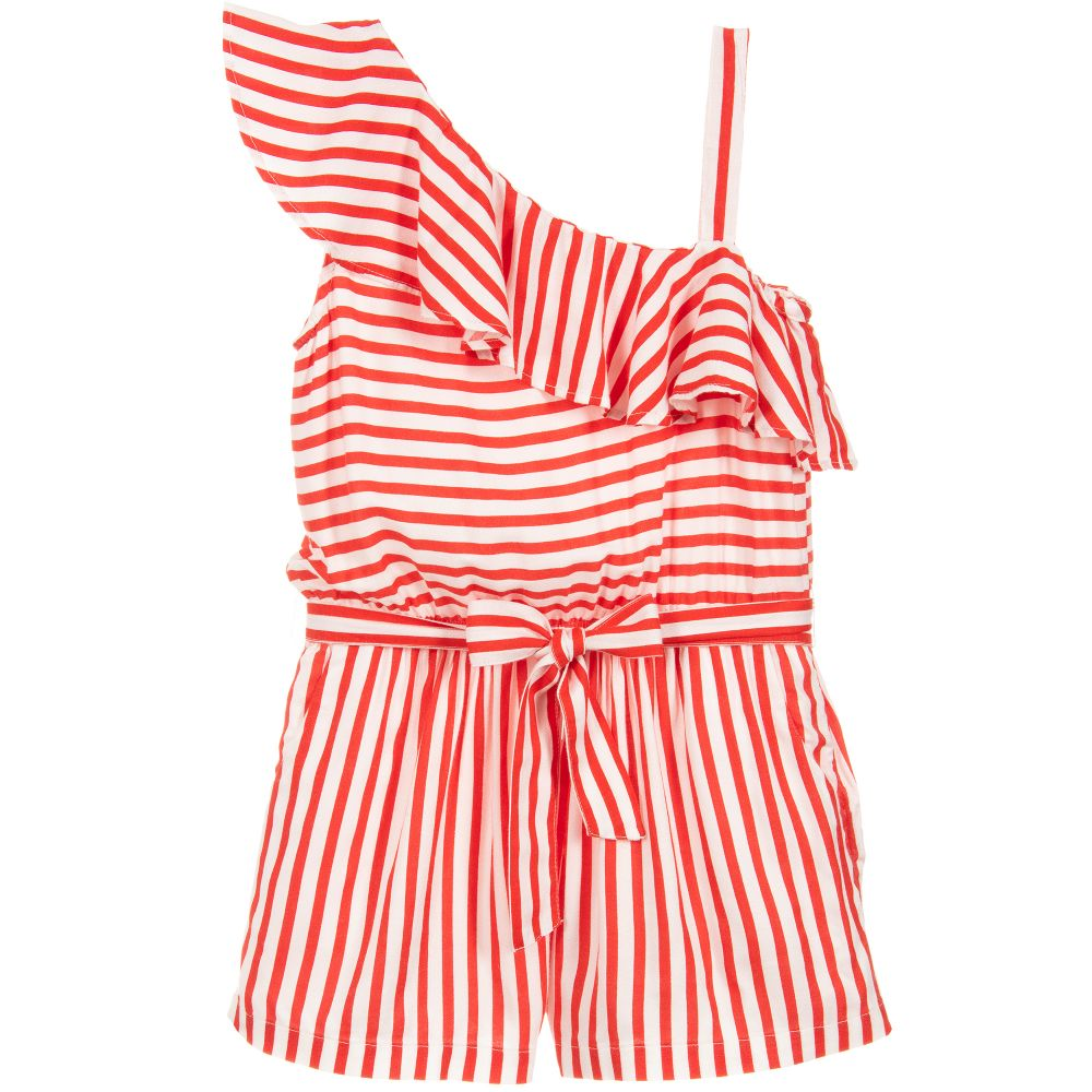 df30545eb9 Mayoral - Girls Red Striped Playsuit