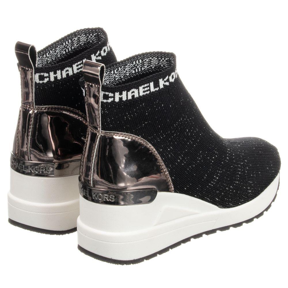 a13d81c398d8 Michael Kors - Girls Black Sock Trainers