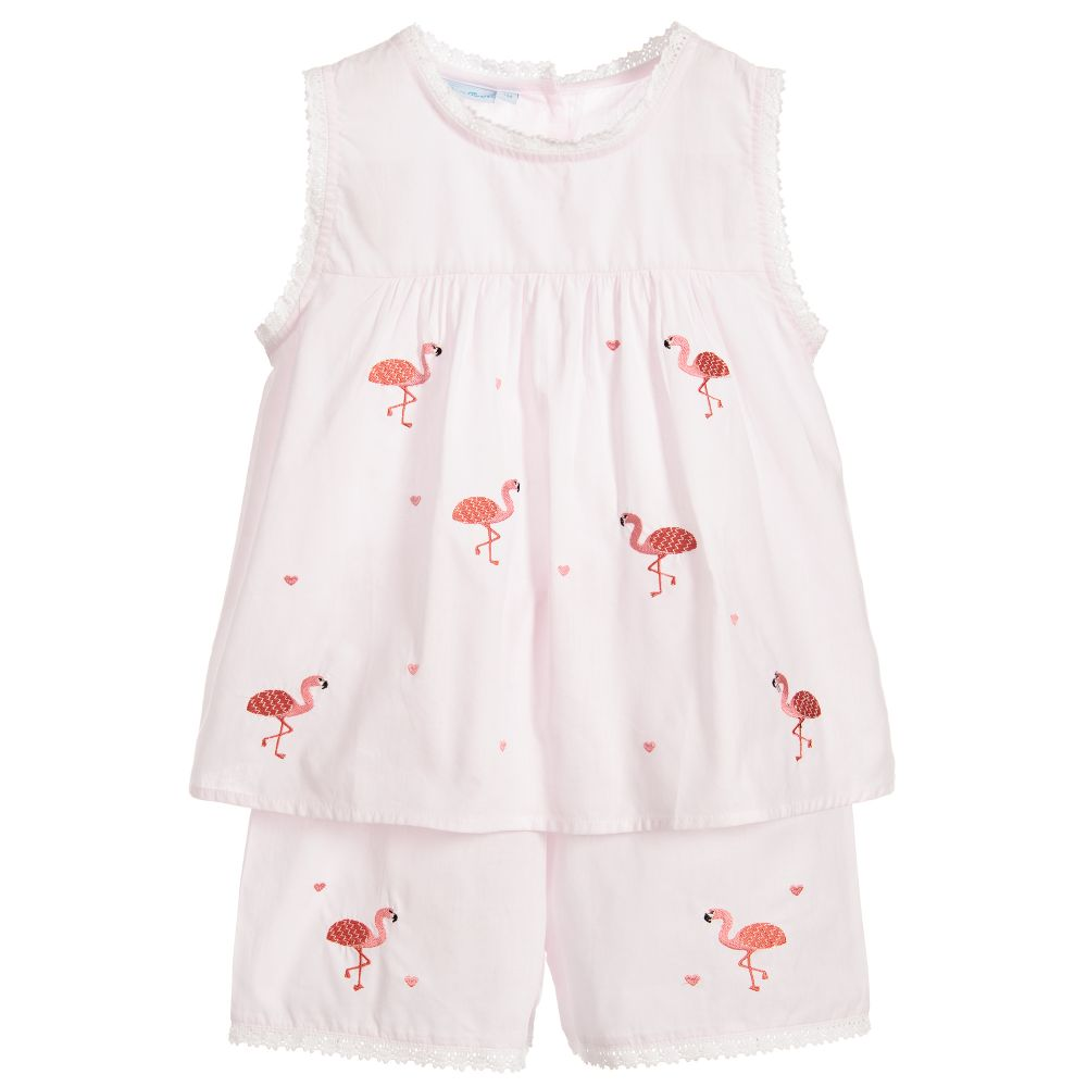 Mini Lunn - Flamingo Short Pyjamas | Childrensalon