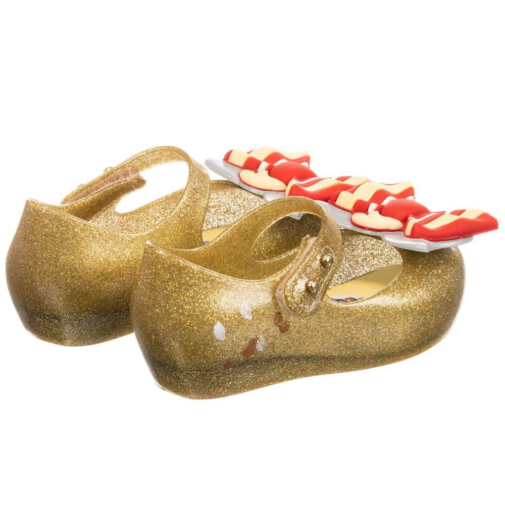 wide varieties quality performance sportswear Mini Melissa Gold Dumbo Jelly Shoe