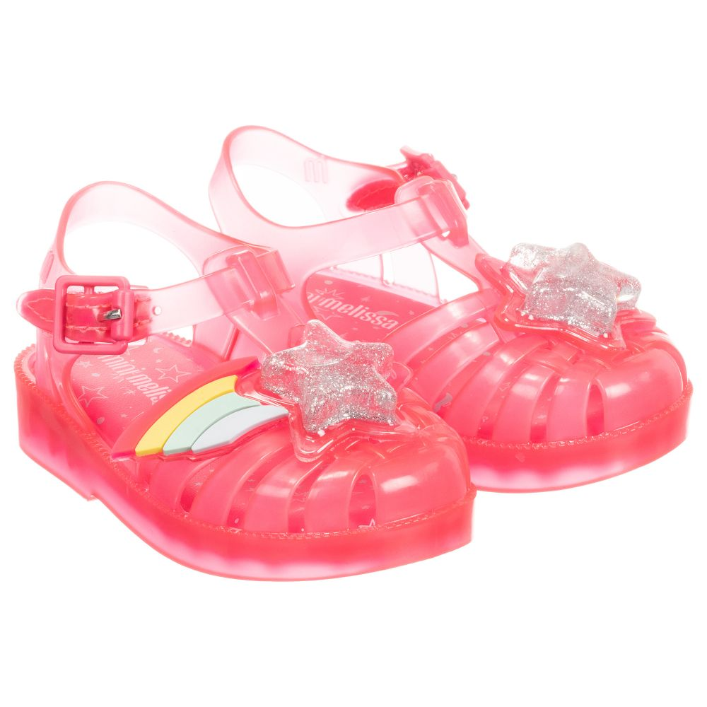 Pink Jelly Rainbow Sandals Pink Jelly WHE29IDY