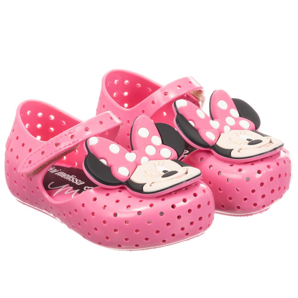 30784015bdb Pink Minnie Mouse Jelly Shoes