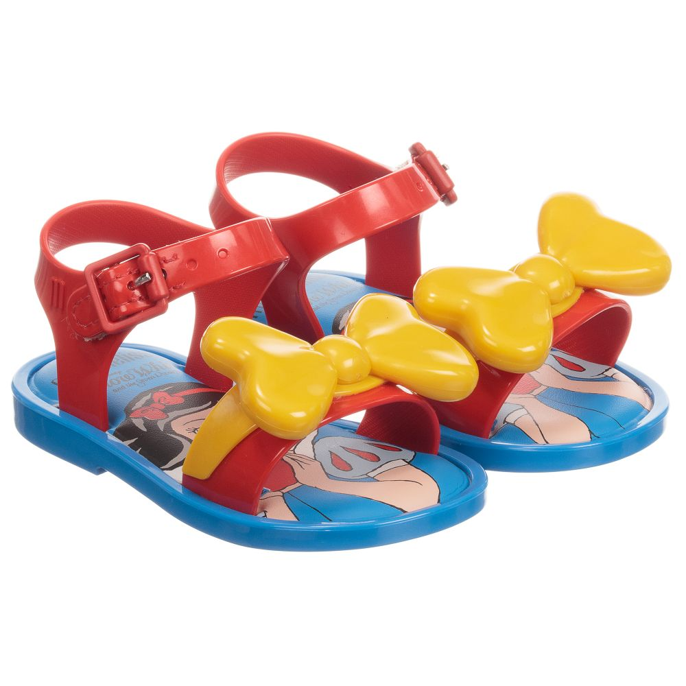 b7c65a3ec16 Mini Melissa - Red Disney Jelly Sandals
