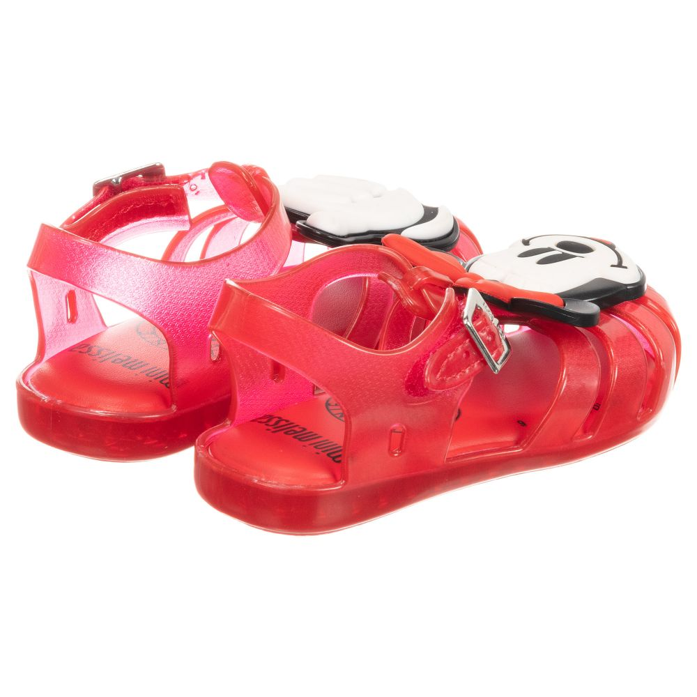c13f8a085457 Mini Melissa - Red Disney Jelly Shoes