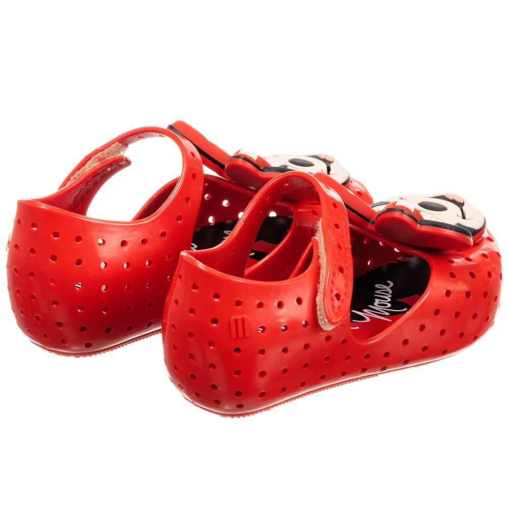 ca8f9a6985a Red Minnie Mouse Jelly Shoes
