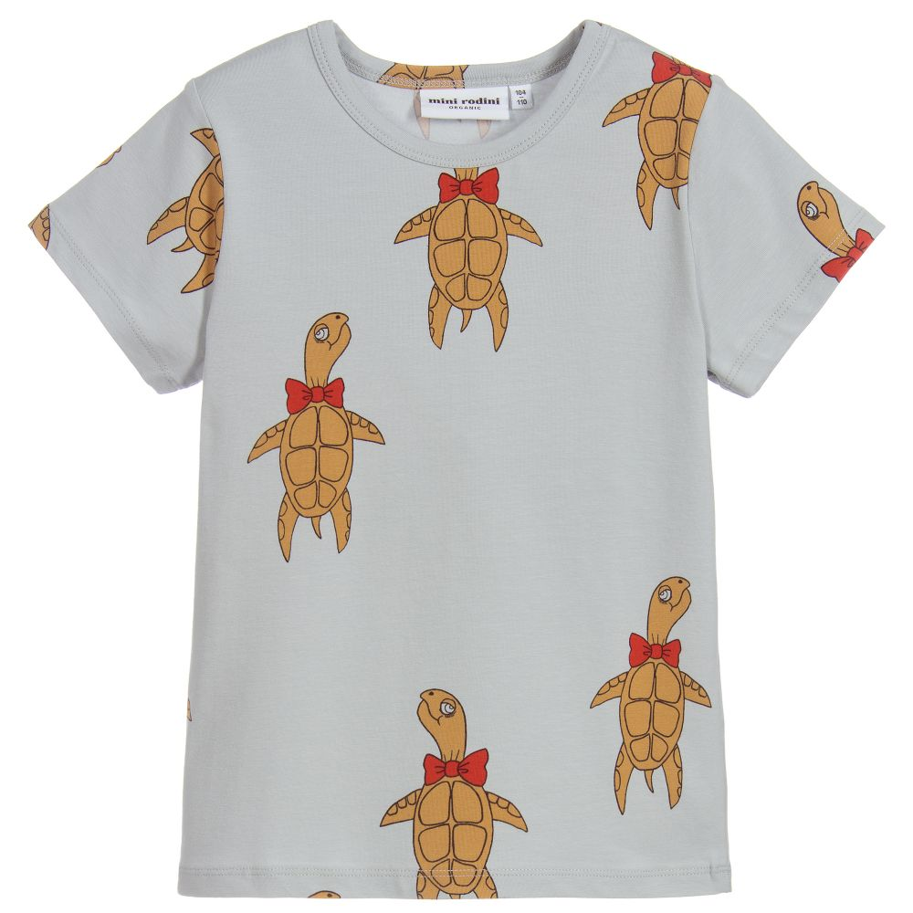 Mini Rodini - Organic Cotton Turtle T-Shirt | Childrensalon