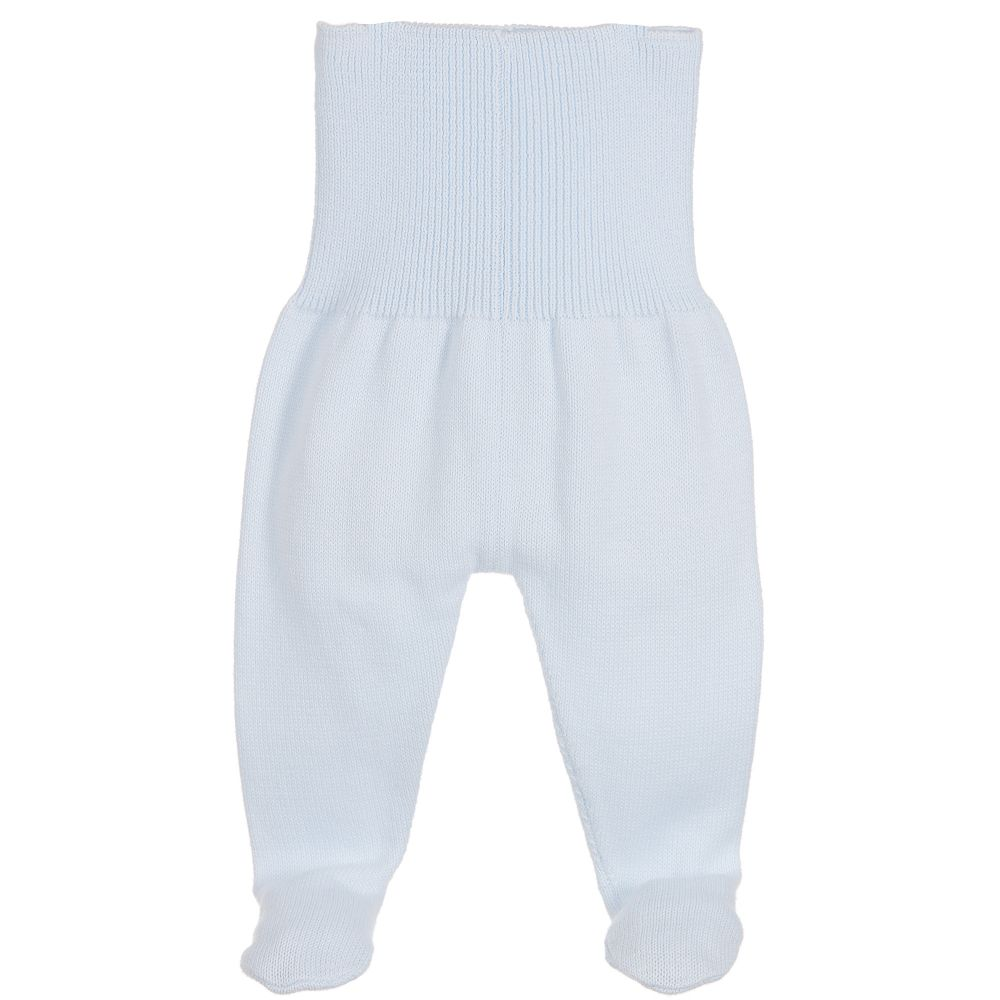 Minutus - Blue Knitted Baby Trousers | Childrensalon