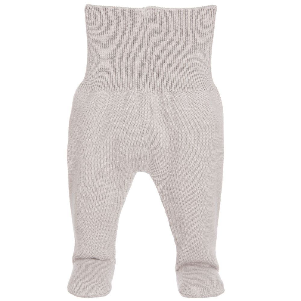 Minutus - Grey Knitted Baby Trousers  | Childrensalon