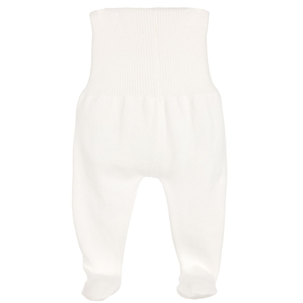 Minutus - Ivory Knitted Baby Trousers | Childrensalon
