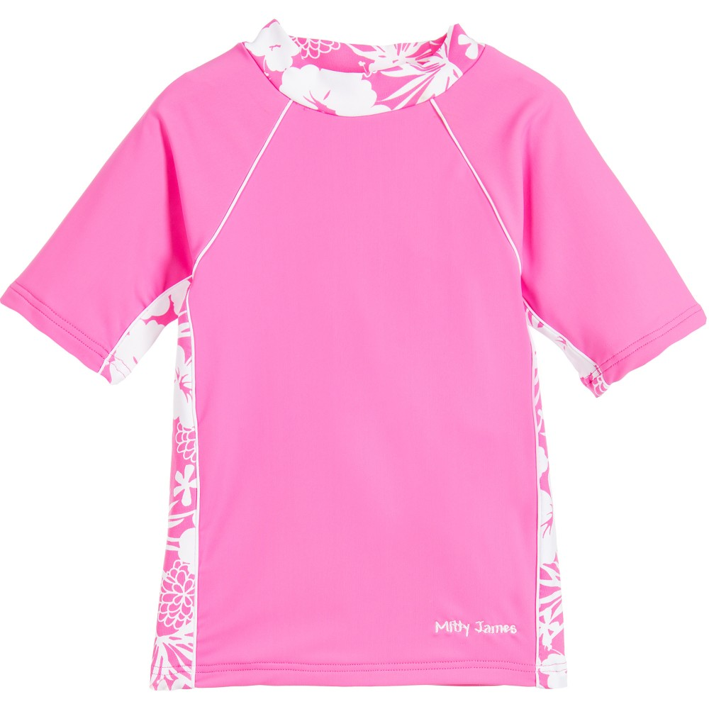 Mitty James - Girls Pink Floral Sun-Protective Top (UPF 50+) | Childrensalon