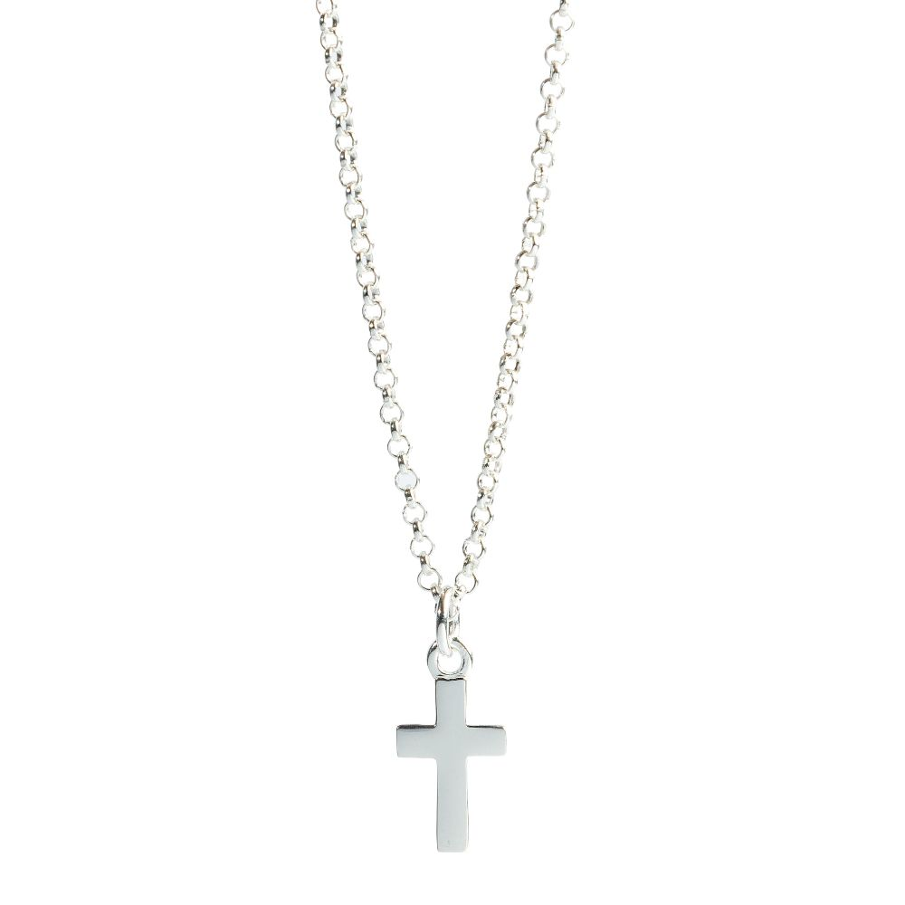 Molly Brown Girls Sterling Silver Cross Necklace