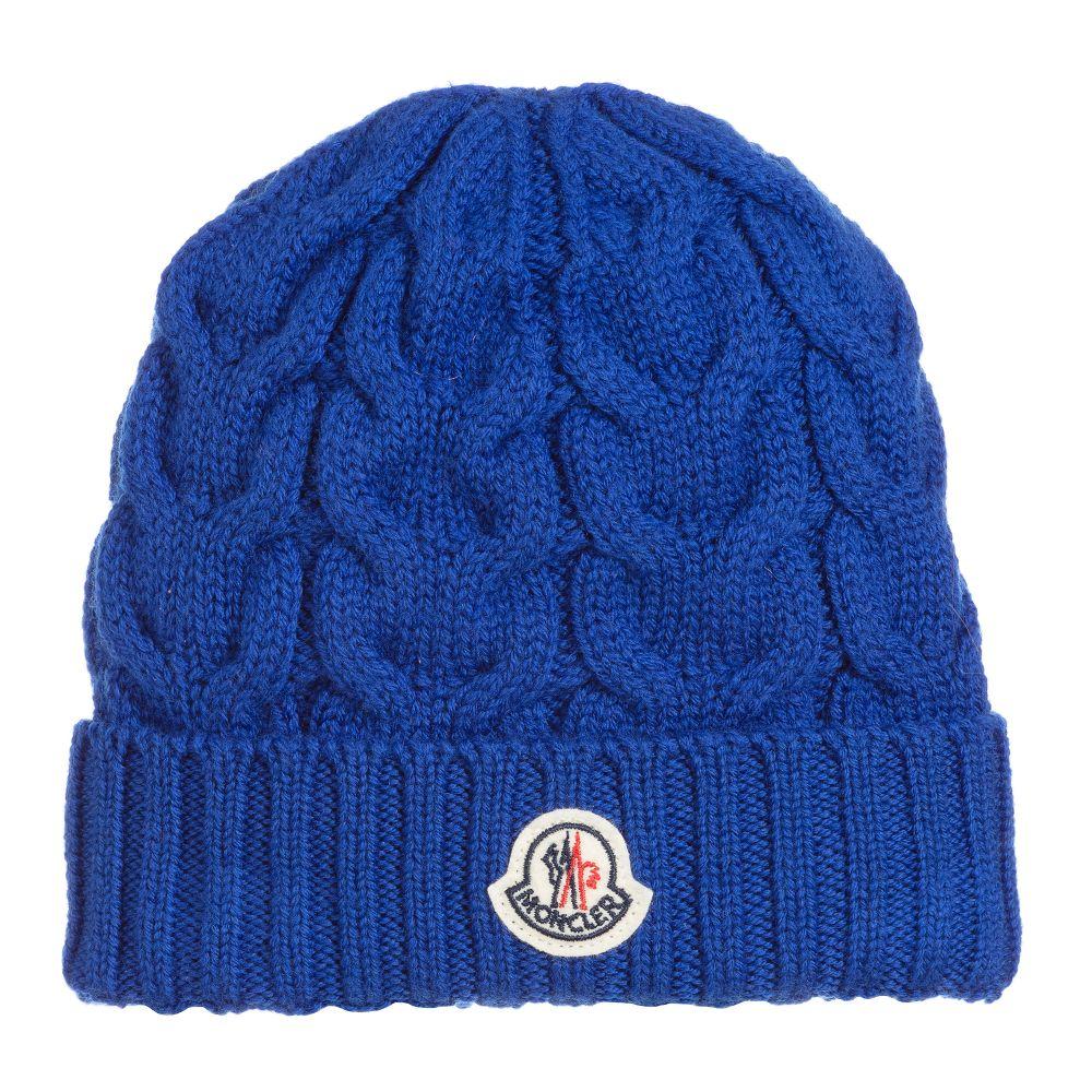 4f444e329 Boys Blue Wool Knit Hat