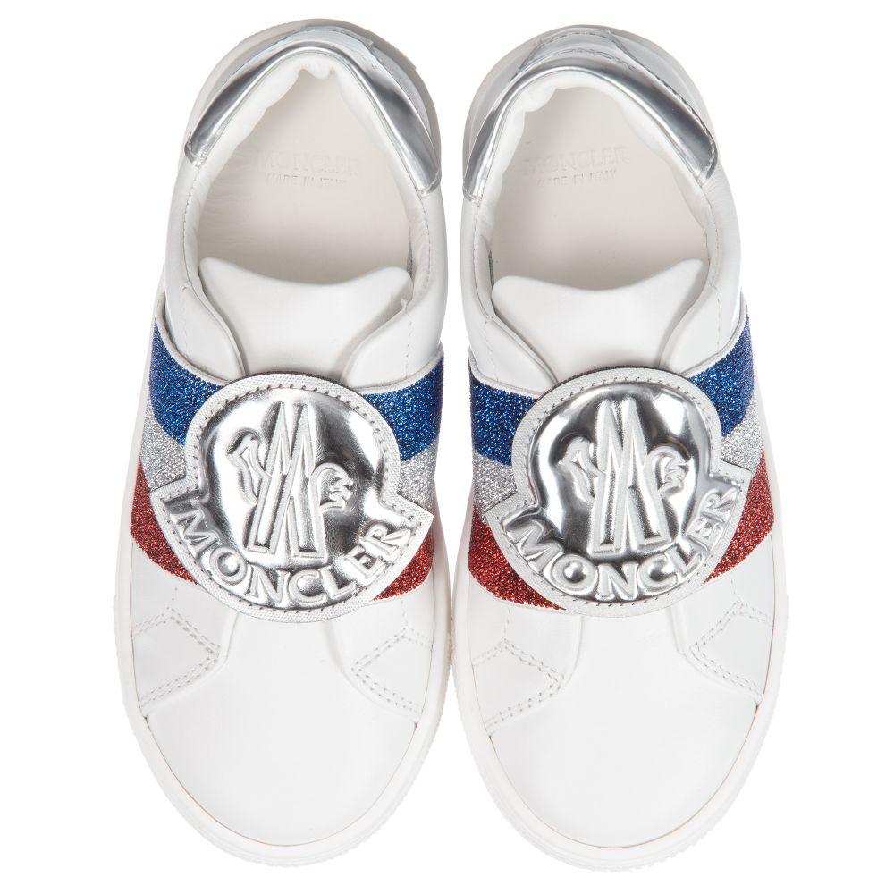 01856e4e2 Girls White Leather Trainers