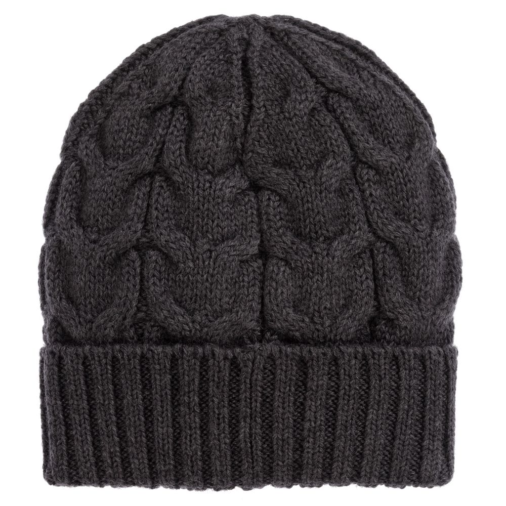 1f8e30e5a Grey Knitted Wool Hat