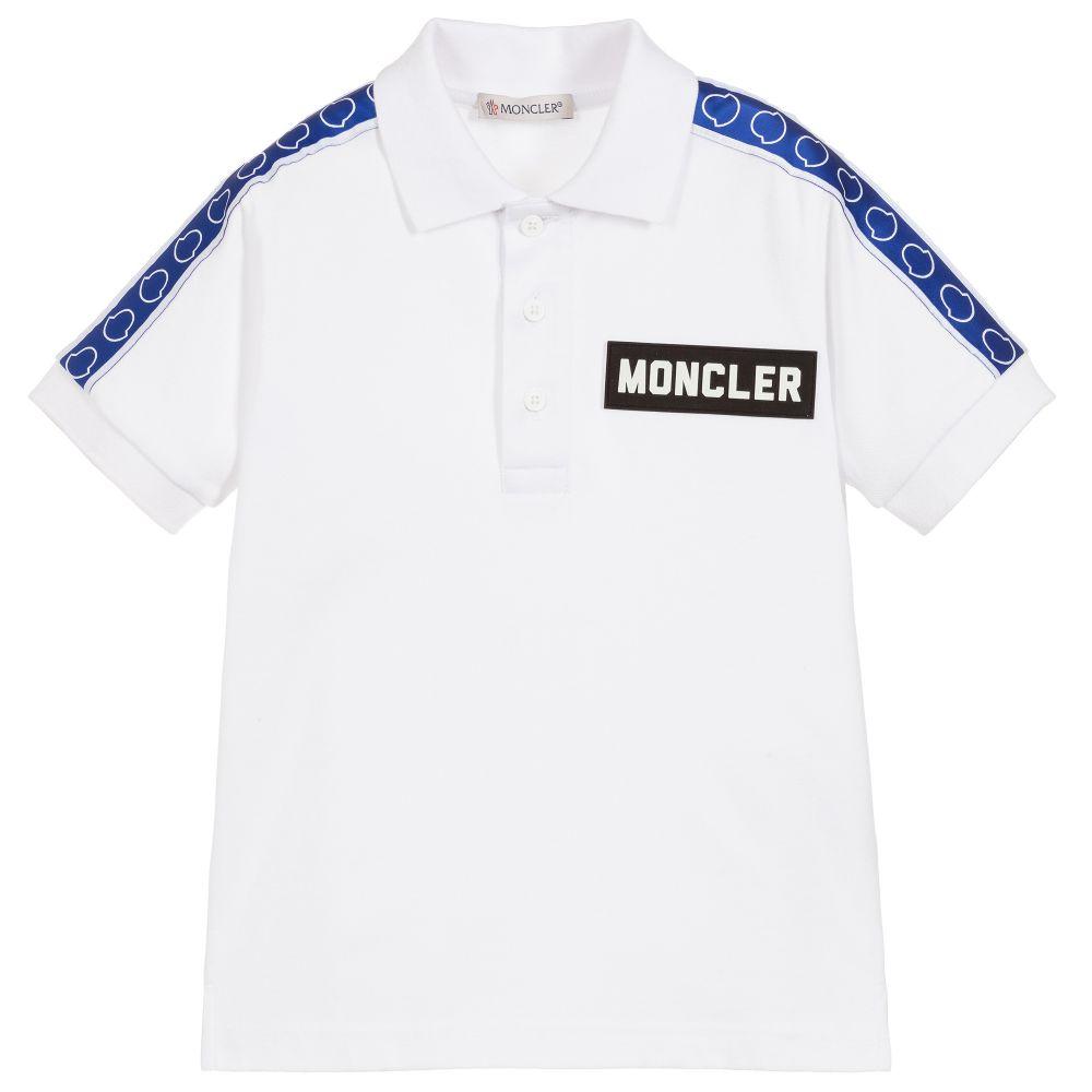 e9ff58128 White Cotton Logo Polo Shirt