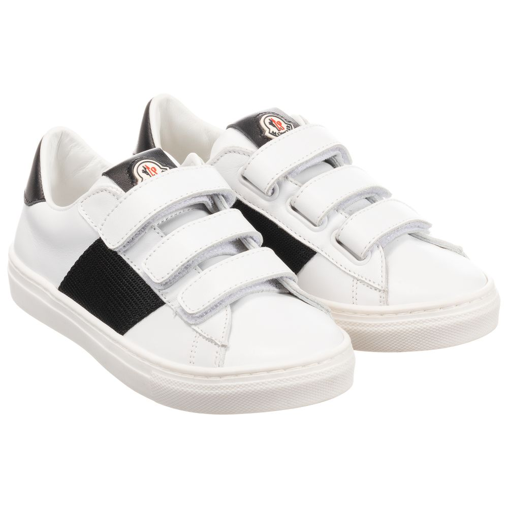 Moncler Enfant - White Leather Trainers
