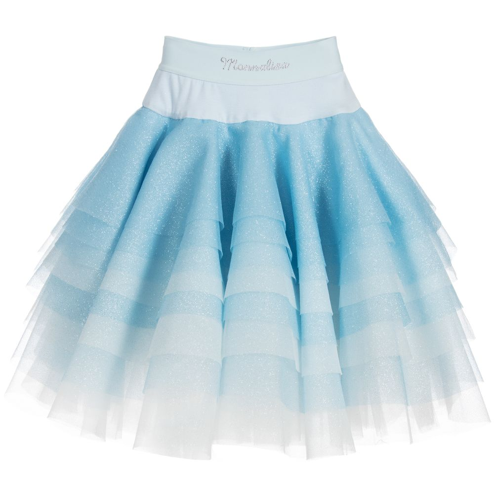 The key to a pretty tulle skirt is the type of tulle you use. If you buy normal tulle, the skirt will be a little scratchy, a little bunchy, and it won't wash well. But if you get the right kind of tulle, it will be soft and pretty AND hold up in the wash.