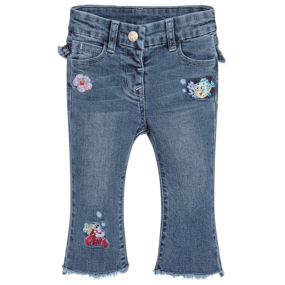 991869ad2 Monnalisa - Girls Disney Blue Denim Jeans