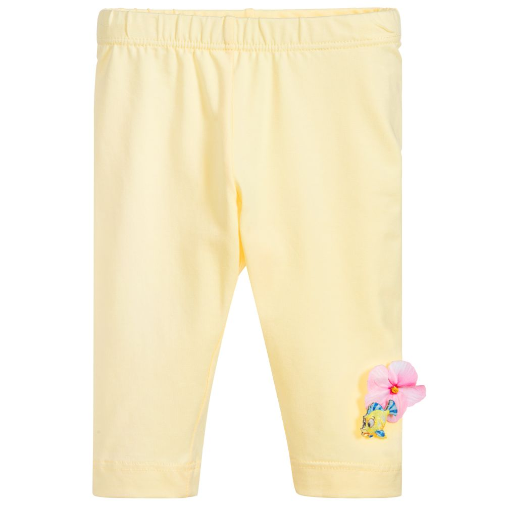 bc82163ee Monnalisa Bebé - Girls Yellow Cotton Leggings