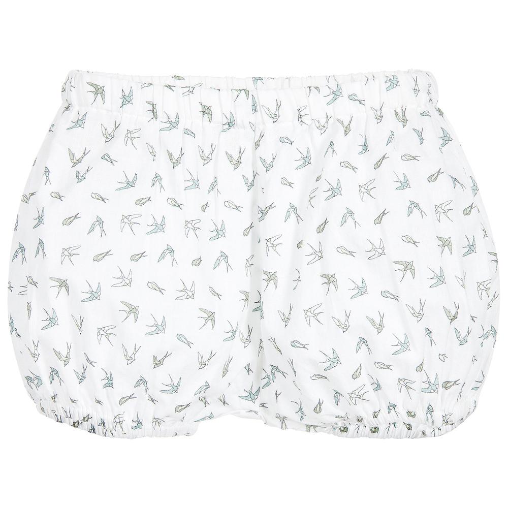 Moon et Miel - Baby Girls Bird Print Shorts | Childrensalon