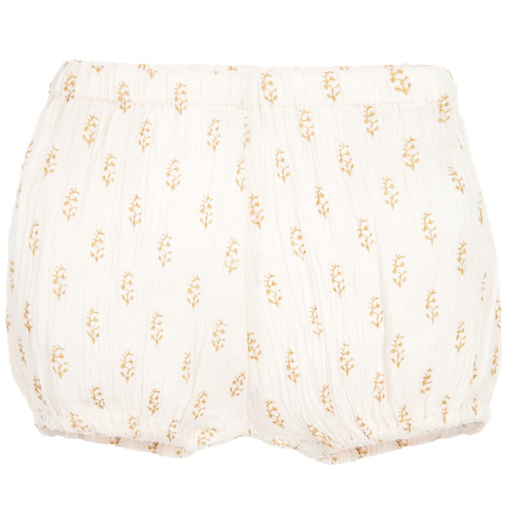 Moon et Miel - Baby Girls Pink & Gold Shorts | Childrensalon