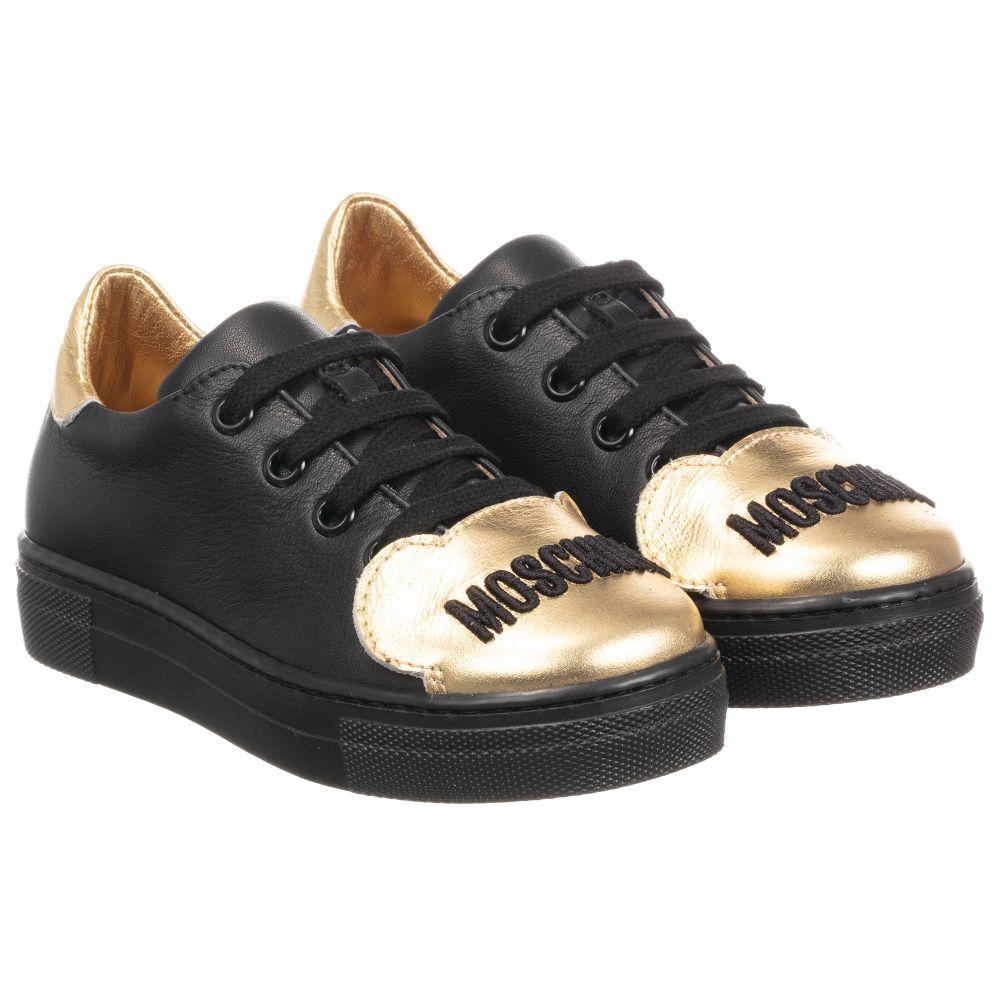Moschino Kid-Teen - Black \u0026 Gold