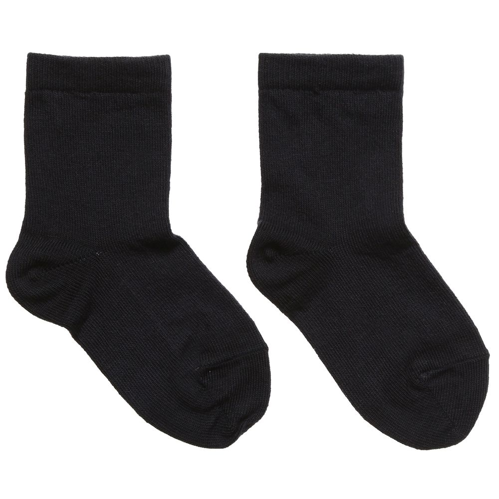 MP - Dark Blue Cotton Short Socks | Childrensalon
